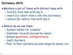 dictionary adts