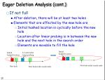 eager deletion analysis cont