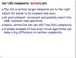 set uid complexity sorted lists