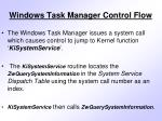 windows task manager control flow