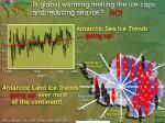 is global warming melting the ice caps and reducing sea ice no