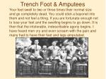 trench foot amputees