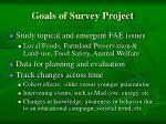 goals of survey project