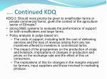 continued kdq1