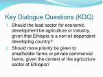 key dialogue questions kdq