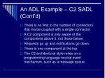 an adl example c2 sadl cont d