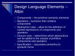 design language elements albin