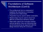 foundations of software architecture cont d