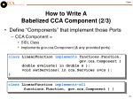 how to write a babelized cca component 2 3