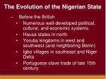 the evolution of the nigerian state1