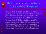 differences between activex dlls and cgi programs1