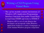 writing a cgi program using visual basic1