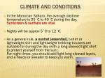 climate and conditions