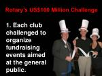 rotary s us 100 million challenge