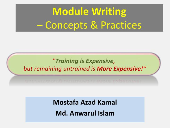 module writing concepts practices n.