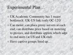 experimental plan