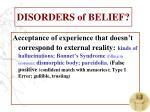 disorders of belief