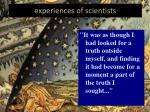 experiences of scientists1