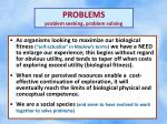 problems problem seeking problem solving