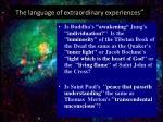 the language of extraordinary experiences