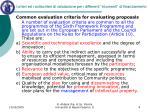 i criteri ed i sottocriteri di valutazione per i differenti strumenti di finanziamento