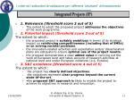 i criteri ed i sottocriteri di valutazione per i differenti strumenti di finanziamento3