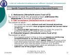 i criteri ed i sottocriteri di valutazione per i differenti strumenti di finanziamento7