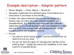 example description adapter pattern
