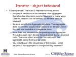 iterator object behavioral2