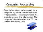 computer processing