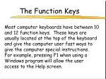 the function keys