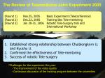 the review of telemedicine joint experiment 2005