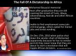 the fall of a dictatorship in africa