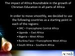 the impact of africa roundtable in the growth of christian education in all parts of africa