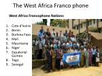 the west africa franco phone