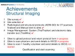 achievements structural imaging