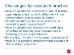 challenges for research practice