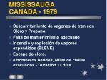 mississauga canada 1979