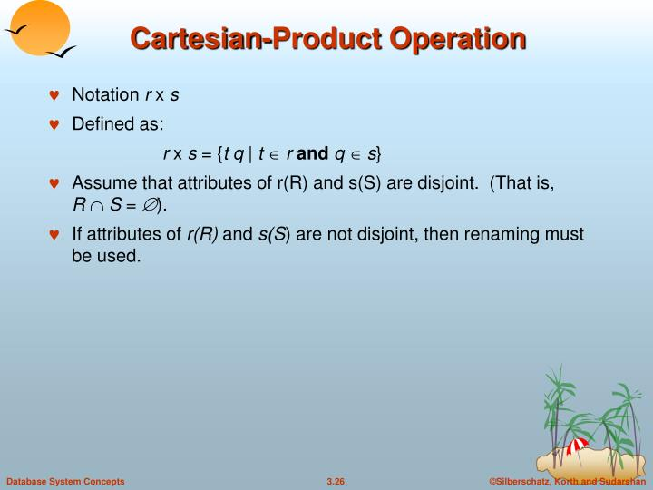 Cartesian-Product Operation