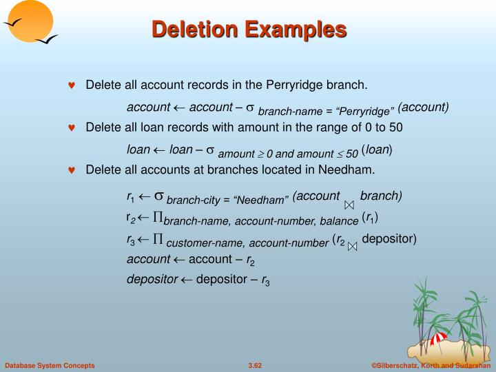 Deletion Examples