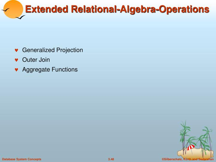 Extended Relational-Algebra-Operations