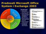 prednosti microsoft office system i exchange 2003