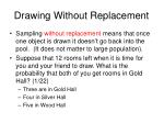 drawing without replacement