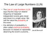 the law of large numbers lln