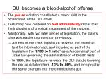 dui becomes a blood alcohol offense