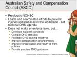australian safety and compensation council ascc