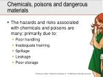 chemicals poisons and dangerous materials