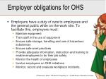 employer obligations for ohs