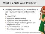 what is a safe work practice