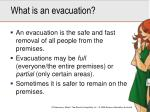 what is an evacuation